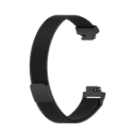 For Fitbit Inspire 2 Milanese Replacement Wrist Strap Watchband, Size:L(Black)