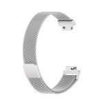 For Fitbit Inspire 2 Milanese Replacement Wrist Strap Watchband, Size:L(Silver)