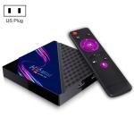 H96 Mini V8 4K Smart TV Box with Remote Control, Android 10.0, RK3228A Quad-core Cortex-A7, 1GB+8GB, Built-in TikTok, Support DLNA / HDMI / USBx2 / 2.4G WIFI, Plug Type:US Plug