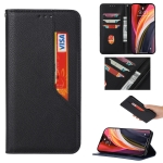 For OnePlus 8T Magnetic Horizontal Flip Leather Case with Holder & Card Slots & Wallet(Black)