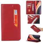 For Xiaomi Poco X3 NFC Magnetic Horizontal Flip Leather Case with Holder & Card Slots & Wallet(Red)