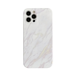 Marble Pattern TPU Protective Case For iPhone 12(White)