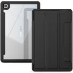 For Samsung Galaxy Tab A7 10.4 (2020) Acrylic + TPU Horizontal Flip Smart Leather Case with Three-folding Holder & Wake-up / Sleep Function(Black)
