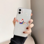 Cute Christmas Cartoon Pattern TPU Protective Case For iPhone 12(Santa Claus Gift)