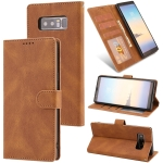For Samsung Galaxy Note 8 Fantasy Classic Skin-feel Calfskin Texture Magnetic Buckle Horizontal Flip PU Leather Case with Holder & Card Slot & Wallet(Brown)
