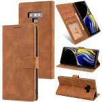 For Samsung Galaxy Note9 Fantasy Classic Skin-feel Calfskin Texture Magnetic Buckle Horizontal Flip PU Leather Case with Holder & Card Slot & Wallet(Brown)