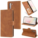 For Samsung Galaxy Note10 Fantasy Classic Skin-feel Calfskin Texture Magnetic Buckle Horizontal Flip PU Leather Case with Holder & Card Slot & Wallet(Brown)