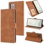 For Samsung Galaxy Note 10 Lite Fantasy Classic Skin-feel Calfskin Texture Magnetic Buckle Horizontal Flip PU Leather Case with Holder & Card Slot & Wallet(Brown)