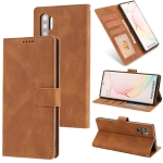 For Samsung Galaxy Note10+ Fantasy Classic Skin-feel Calfskin Texture Magnetic Buckle Horizontal Flip PU Leather Case with Holder & Card Slot & Wallet(Brown)