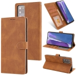 For Samsung Galaxy Note20 Fantasy Classic Skin-feel Calfskin Texture Magnetic Buckle Horizontal Flip PU Leather Case with Holder & Card Slot & Wallet(Brown)