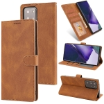 For Samsung Galaxy Note20 Ultra Fantasy Classic Skin-feel Calfskin Texture Magnetic Buckle Horizontal Flip PU Leather Case with Holder & Card Slot & Wallet(Brown)
