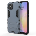 For Huawei nova 8 SE Shockproof PC + TPU Protective Case with Hidden Holder(Navy Blue)