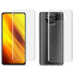 For Xiaomi Poco X3 NFC IMAK Hydrogel Film III Full Coverage Screen + Back Cover Protector(Frosted)