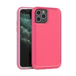 360 All-inclusive Shockproof Precise Hole PC + TPU Protective Case For iPhone 11 Pro(Rose Red)