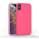 360 All-inclusive Shockproof Precise Hole PC + TPU Protective Case For iPhone XS Max(Rose Red)