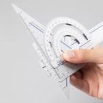 Original Xiaomi Youpin Fizz Aluminum Alloy Ruler Set Ruler Drawing Measurement Geometric Triangle Protractor (Blue)