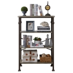 [US Warehouse] Modern Metal Frame Wooden 4-layer Bookshelf, Size: 48.6 x 32.7 x 16.1 inch