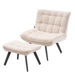 [US Warehouse] Modern Simple Fashion Leisure Sofa Chair with Black Metal Legs (Beige)