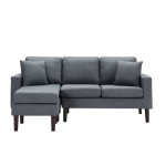 [US Warehouse] Living Room Furniture Four Seat Sofa with Pillow