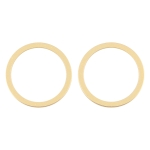2 PCS Rear Camera Glass Lens Metal Protector Hoop Ring for iPhone 12 (Gold)
