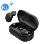 T8 TWS Intelligent Noise Reduction IPX6 Waterproof Bluetooth Earphone with Magnetic Charging Box & Digital Display, Support Automatic Pairing & HD Call & Voice Assistant(Black)