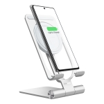 NILLKIN 2 in 1 15W PoweHold Mini Vertical Foldable Detachable Wireless Charger Mobile Phone Holder (Silver)