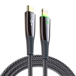 DUX DUCIS K-IV Series Type-C to 8 Pin Braided PD Fast Charging Data Cable, Length: 2m(Black)