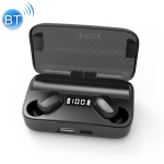 A9 TWS CVC8.0 and DSP Dual Noise Reduction Bluetooth Earphone with Magnetic Charging Box & LED Digital Display, Support Touch & HD Call & Siri & Power Bank (Black)