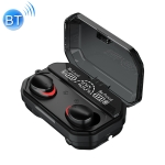 A17 TWS CVC8.0 and DSP Dual Noise Reduction Touch Bluetooth Earphone with Magnetic Charging Box, Support Three-screen LED Power Display & Flashlight & HD Call & Siri & Power Bank(Black)