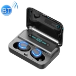 F9-5 Intelligent Noise Reduction Touch Bluetooth Earphone with Charging Box, Supports Three-screen LED Power Display & HD Call & Power Bank & Siri(Black)