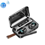 F9-5C Jerry Solution Touch Bluetooth Earphone with Magnetic Charging Box, Support Three-screen LED Power Display & Power Bank & Call & Siri & Hand Strap (Black)