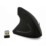 CM0093 Battery Version 2.4GHz Three-button Wireless Optical Mouse Vertical Mouse for Left-hand, Resolution: 1000DPI / 1200DPI / 1600DPI (Black)