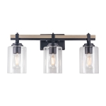 [US Warehouse] 3 Heads Modern Glass Dressing Table Mirror Front Light Lamps and Lanterns, without Bulb