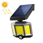 66 COBs Home Lighting Courtyard Waterproof Rotatable Solar Body Induction Wall Light Street Light, Style: No Remote Control