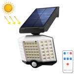 66 LEDs Home Lighting Courtyard Waterproof Rotatable Solar Body Induction Wall Light Street Light, Style: Remote Control
