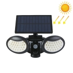 56 LEDs Home Lighting Integrated Courtyard Waterproof Double Heads Rotatable Solar Wall Light Street Light