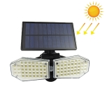 78 LEDs Home Lighting Integrated Courtyard Waterproof Double Heads Rotatable Solar Wall Light Street Light