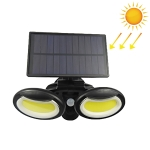108 COBs Home Lighting Integrated Courtyard Waterproof Double Heads Rotatable Solar Wall Light Street Light
