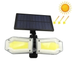 130 COBs Home Lighting Integrated Courtyard Waterproof Double Heads Rotatable Solar Wall Light Street Light