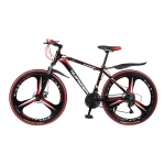 [US Warehouse] MEIYINUO 26 inch Python-shaped Mountain Bike Single Wheel Double Disc Brake Road Bike(Red)