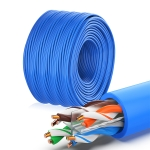 NUOFUKE 056 CAT 6E 8 Core Oxygen-Free Copper Gigabit Home Network Cable, Cable Length: 300m(Blue)