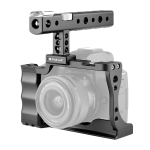 PULUZ Video Camera Cage Stabilizer with Handle for Canon EOS M50 (Black)