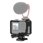 PULUZ For GoPro HERO9 Black ABS Plastic Border Frame Mount Protective Case with Buckle Basic Mount & Screw (Black)