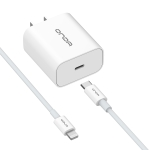 ONDA A23+XC45 18W Type-C / USB-C PD Fast Charging Power Adapter with 8 Pin Data Cable