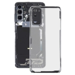 Glass Transparent Battery Back Cover for Samsung Galaxy S20 SM-G980 SM-G980F SM-G980F/DS(Transparent)