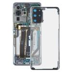 Glass Transparent Battery Back Cover for Samsung Galaxy S20+ SM-G985 SM-G985F SM-G985F/DS(Transparent)