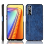 For OPPO Realme 7 / Narzo 20 Pro Shockproof Sewing Cow Pattern Skin PC + PU + TPU Case(Blue)