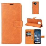 For Nokia 8.3 5G Retro Calf Pattern Buckle Horizontal Flip Leather Case with Holder & Card Slots & Wallet(Yellow)