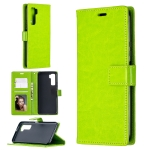 Fo Huawei P40 Lite 5G Crazy Horse Texture Horizontal Flip Leather Case with Holder & Card Slots & Wallet & Photo Frame(Green)