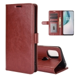 For OnePlus Nord N10 5G R64 Texture Single Horizontal Flip Protective Case with Holder & Card Slots & Wallet& Photo Frame(Brown)